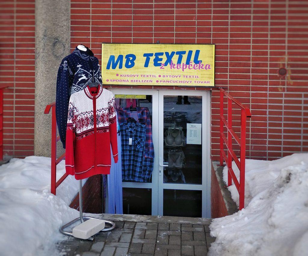 Pradajňa MB Textil Svit